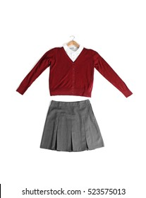 School uniform on white background