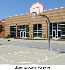 School yard basketball court