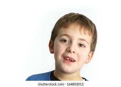 Schoolboy expression - Portrait of a child