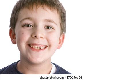 Schoolboy facial expression - Portrait of a child
