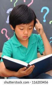 Schoolboy full of questions