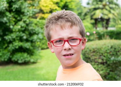 Schoolboy outdoor portrait