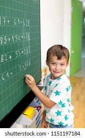 Schoolchild at the blackboard