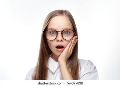 schoolgirl girl wearing glasses