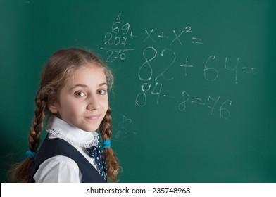 schoolgirl and school board