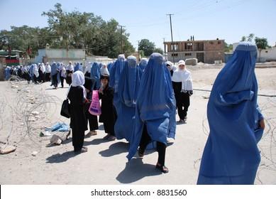 Schoolgirls in burka