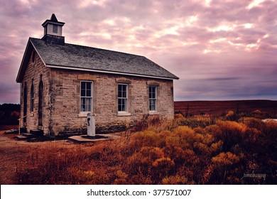 Schoolhouse at Tall Grass Prairie