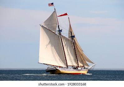 Schooner participating in the Great Schooner Race on Penobscot Bay