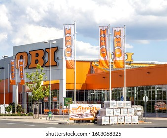 Schwabach, Germany - AUG 12, 2017: The OBI market in Frankfurt Main, Germany. Obi is the largest hardware and do-it-yourself retailer in Germany