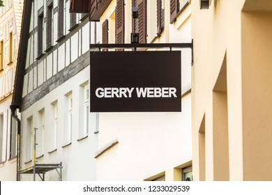 """Schwabach, Germany, May 27, 2018: Store of the clothing company """"Gerry Weber"""", Gerry Weber manages over 1,000 own stores with brands Taifun, Samoon and Hallhuber."""