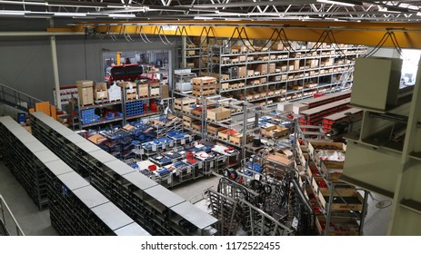 Schwandorf/Germany - 08.29.2018: Horsch plant manufacturing - assemblage of agricultural machinery