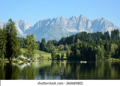 Schwarzsee à Kitzbuhel , Tyrol/Autriche