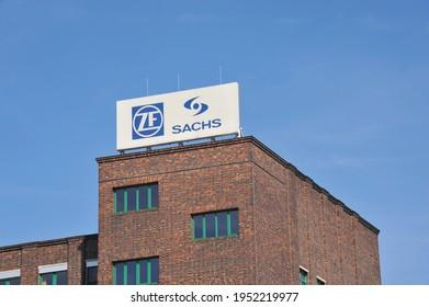 Schweinfurt, Bavaria, Germany - September 29, 2014: ZF Sachs AG in Schweinfurt, Germany - ZF Sachs is a subsidiary of ZF Friedrichshafen AG
