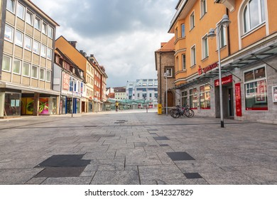 SCHWEINFURT, GERMANY - CIRCA AUGUST, 2018:  The Rossmarkt square and townscape of Schweinfurt in Germany