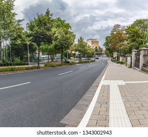 SCHWEINFURT, GERMANY - CIRCA AUGUST, 2018:  The townscape of Schweinfurt in Germany