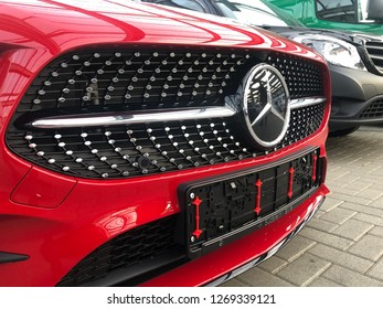 Schwenningen, Germany 27/12/2018; Mercedes Benz Sign Close Up Logo, Mercedes-Benz is a Global Automobile Marque And a Division of the German Company Daimler AG. - Image