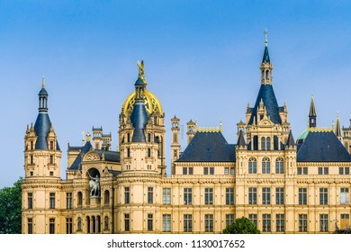 Schwerin with the beautiful barok castle in which resided the parliament of Mecklenburg