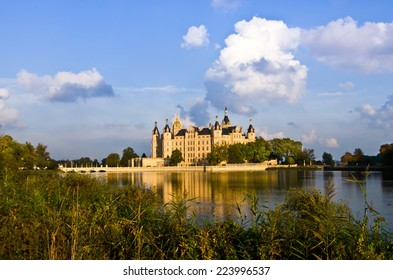 Schwerin beautiful castle in the North of Germany
