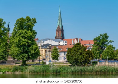 Schwerin, Germany. Cityscape of the old town in the summer.