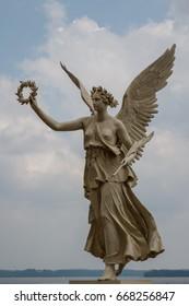 SCHWERIN / GERMANY - JULY 2014: Statue in the park of Schwerin castle park, Germany