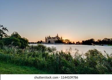 Schwerin Palace, or Schwerin Castle (Schweriner Schloss), located in the city of Schwerin, the capital of Mecklenburg-Vorpommern state, Germany