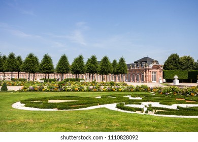 SCHWETZINGEN, GERMANY - August 7, 2015: Gardens of the Schwetzingen Palace (Schloss Schwetzingen), ancient summer residence of the Electors Palatine Charles III Philip and Charles IV Theodore