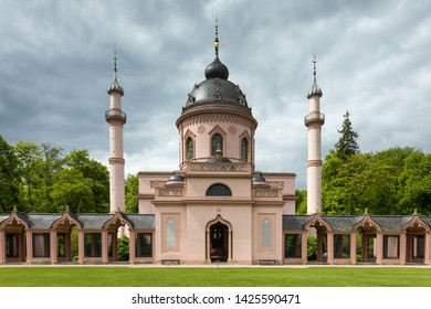 SCHWETZINGEN, GERMANY - MAY 05, 2019: The famous mosque in the palace garden of Schwetzingen
