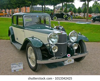 SCHWETZINGEN, GERMANY, SEPTEMBER 1, 2007. Classic car Alvis Speed 20SB, built in England in 1933, photographed at a car event in Germany