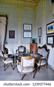 SCICLI ITALY, SEPTEMBER 20 the room of the mayor of Scicli it is also the superintendent's room in the television script, commissioner Montalbano broadcast by rai tv September 20 2018 Scicli Italy