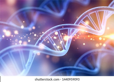 Science Biotechnology DNA illustration and abstract illustration