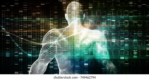 Science Body Research and Development Anatomy Concept 3D Render