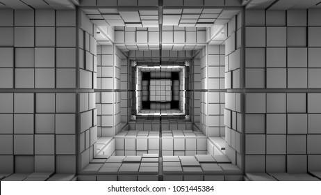 Science Fiction Minimalist Cube Maze Modern Fantasy