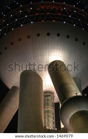 Science Fiction Style Pearl Tower Shanghai Stock Photo Edit Now