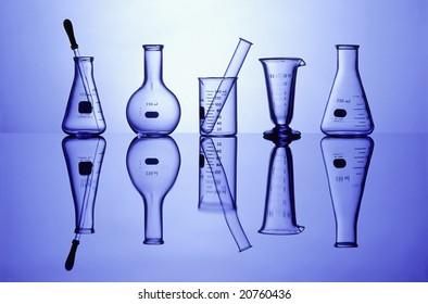 Science Laboratory glassware for research