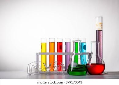 Science  laboratory, test chemistry  research room with white background.