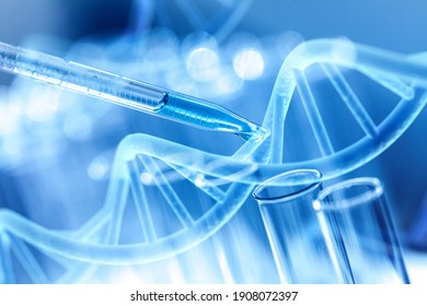 Science laboratory test tubes and pipette