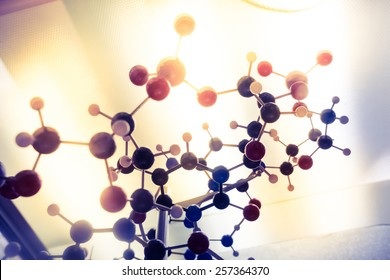 Science Molecule, Molecular DNA Model Structure, business teamwork concept