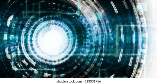 Science Technology Concept with Digital Research and Development