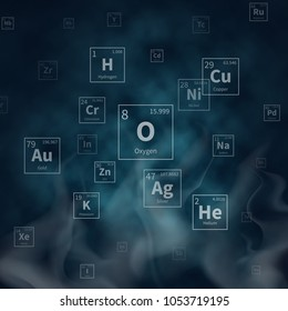 Silver periodic table images stock photos vectors shutterstock scientific background with chemical elements symbols and white smoke scientific chemistry molecular atomic helium and urtaz Image collections