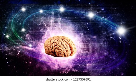 scientific brain witch creative ideas