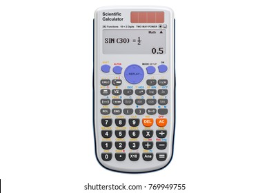 Scientific calculator, 3D rendering  isolated on white background