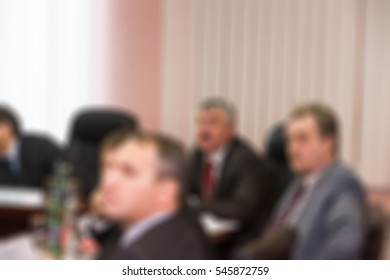 Scientific conference convention theme creative abstract blur background with bokeh effect