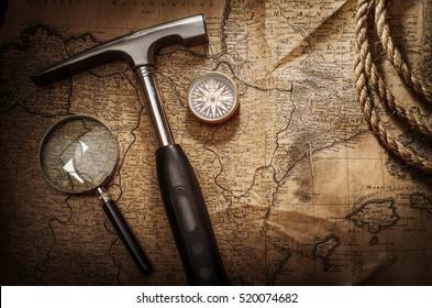 Scientific expedition background.