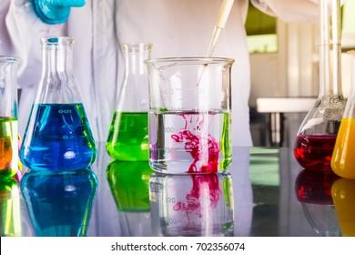 Scientific Glassware For Chemical, Laboratory Research.