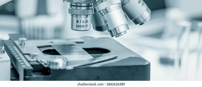 Scientific microscope in the laboratory of forensics