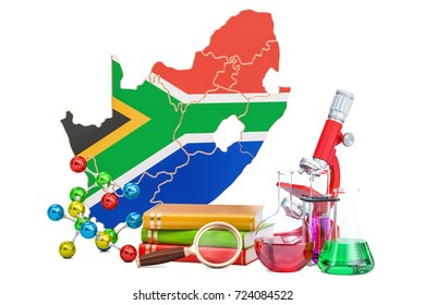 Scientific research in South Africa concept, 3D rendering isolated on white background