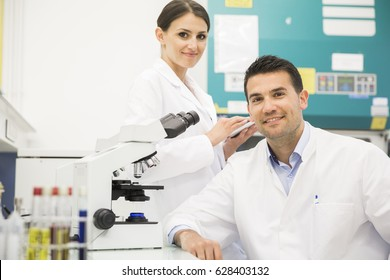 Scientist conducting research
