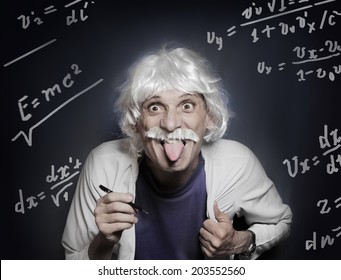 scientist like Albert Einstein put his tongue