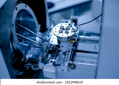 Scientist is preparation of nanomaterials for Scanning Electron Microscope (SEM) machine in laboratory