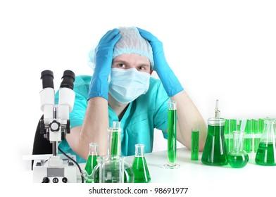 scientist working in chemistry laboratory